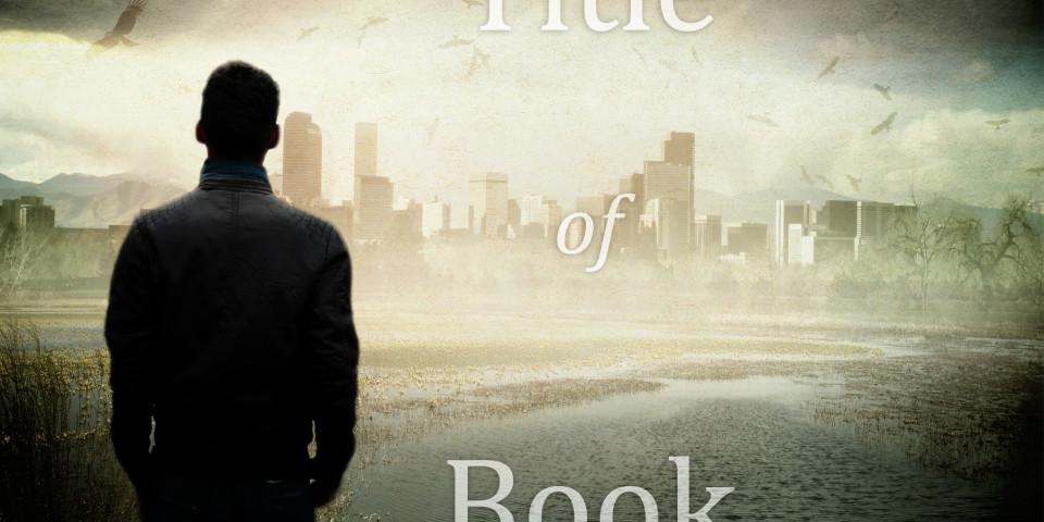 Man overlooking dystopian City