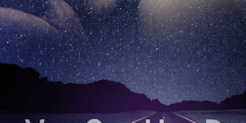 Couple on starry background